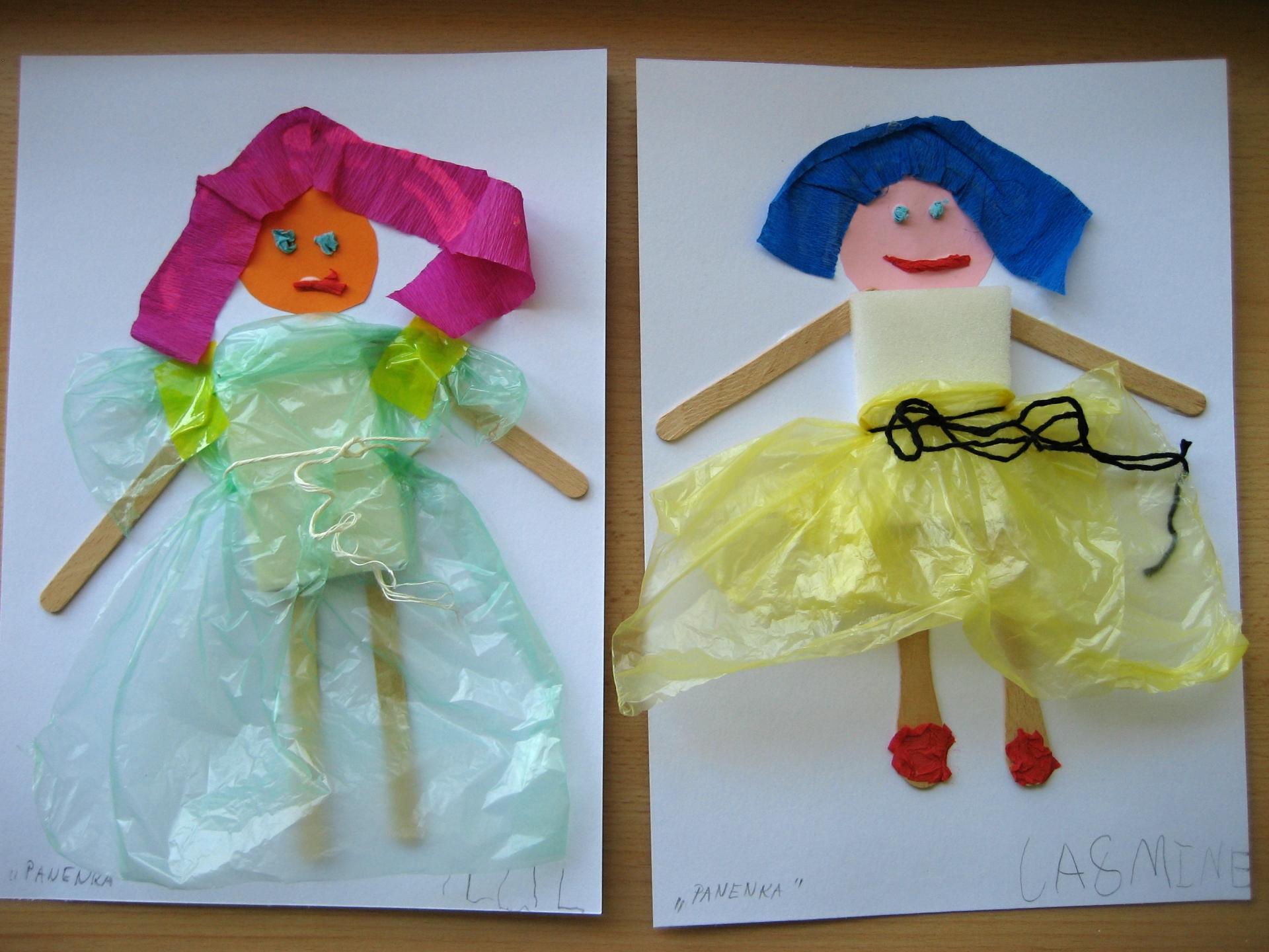 Obrázky panenek - recyklace
