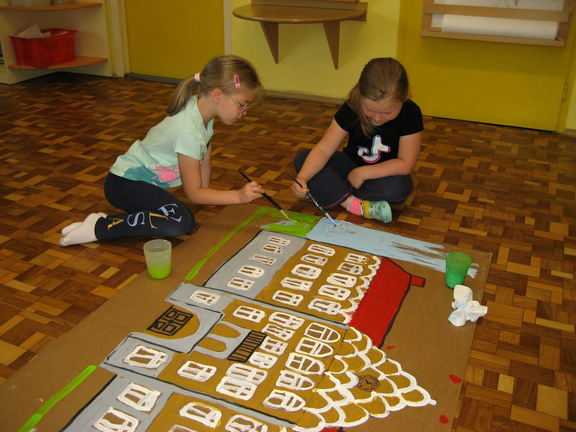 Děti malují radnici