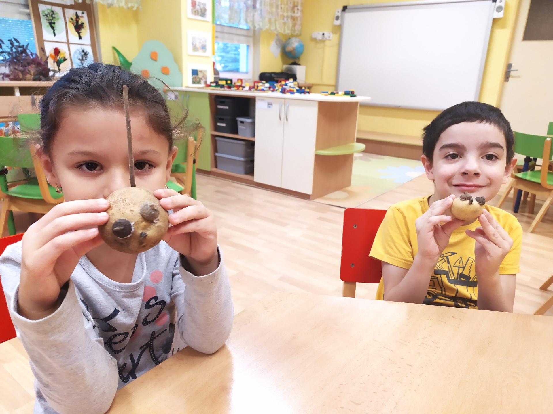 děti s bramborovými hlavičkami